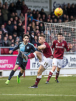 Sam Hoskins of Northampton Town clears during the Sky Bet League 2 match between Northampton Town and Wycombe Wanderers at Sixfields Stadium, Northampton, England on the 20th February 2016. Photo by Liam McAvoy.
