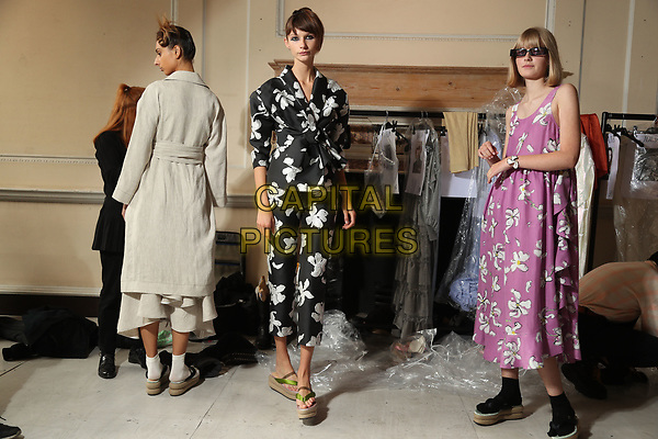 Isa Arfen<br /> backstage at fashion show during London Fashion Week Spring Summer 2018 in London, England September 2017.<br /> CAP/GOL<br /> &copy;GOL/Capital Pictures