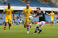 Shane Ferguson of Millwall and Jay Fulton of Swansea City during Millwall vs Swansea City, Sky Bet EFL Championship Football at The Den on 30th June 2020