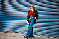 Annie Georgia Greenberg attends Day 4 of New York Fashion Week on Feb 16, 2015 (Photo by Hunter Abrams/Guest of a Guest)