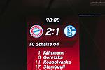 10.02.2018, Allianz Arena, Muenchen, GER, 1.FBL,  FC Bayern Muenchen vs. FC Schalke 04, im Bild Endstand 2-1 auf der Anzeigetafel<br /> <br />  Foto &copy; nordphoto / Straubmeier