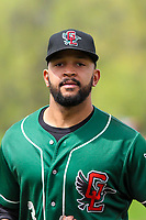 Great Lakes Loons third baseman Jared Walker (3) during a Midwest League game against the Wisconsin Timber Rattlers on May 12, 2018 at Fox Cities Stadium in Appleton, Wisconsin. Wisconsin defeated Great Lakes 3-1. (Brad Krause/Four Seam Images)