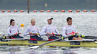 Caversham. Berkshire. UK<br /> left,  Cox. Oliver JAMES. Bow. Grace CLOUGH,  Pamela RELPH, Daniel BROWN and James FOX. 2016 GBRowing, Para Rowing Media Day, UK GBRowing Training base near Reading, Berkshire.<br /> <br /> Friday  15/04/2016<br /> <br /> [Mandatory Credit; Peter SPURRIER/Intersport-images]