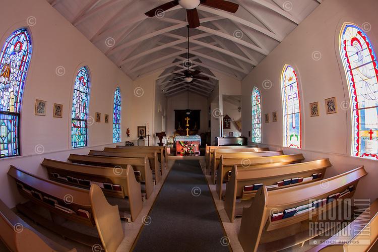 Interior of St. Augustine's Episcopal Church, Kapa'au, Big Island.