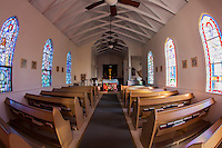 Interior of St. Augustine's Episcopal Church, Kapa'au, Big Island.