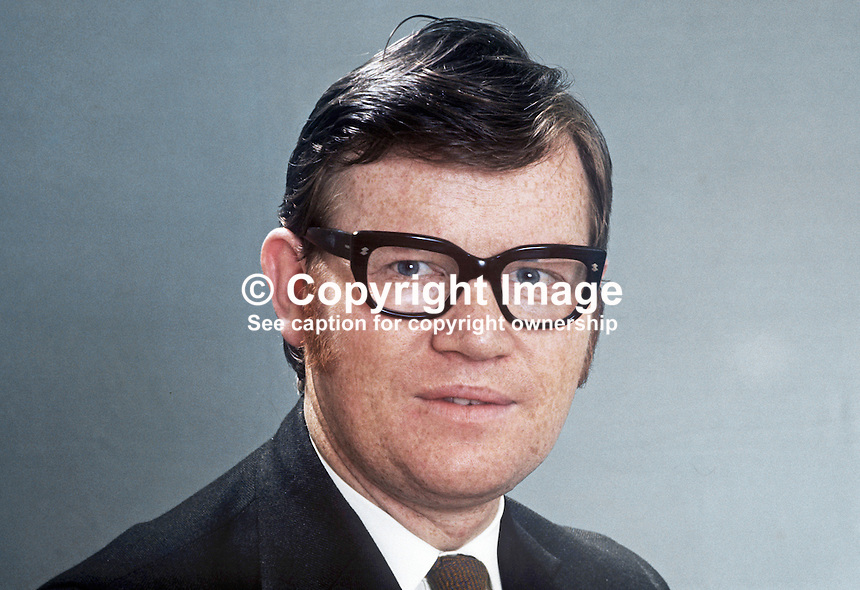 Dr Jack Smith, candidate, Alliance Party of N Ireland, North Belfast, N Ireland Assembly Election, June 1973. 197305000307a<br /> <br /> Copyright Image from Victor Patterson, 54 Dorchester Park, Belfast, UK, BT9 6RJ<br /> <br /> t1: +44 28 9066 1296 (from Rep of Ireland 048 9066 1296)<br /> t2: +44 28 9002 2446 (from Rep of Ireland 048 9002 2446)<br /> m: +44 7802 353836<br /> <br /> e1: victorpatterson@me.com<br /> e2: victorpatterson@gmail.com<br /> <br /> The use of my copyright images is subject to my Terms &amp; Conditions.<br /> <br /> It is IMPORTANT that you familiarise yourself with them. They are available on my website at www.victorpatterson.com.<br /> <br /> None of my copyright images may be used on a website unless they are visibly watermarked, i.e. &copy; Victor Patterson within the body of the visible image. Metadata denoting my copyright must NOT be deleted. <br /> <br /> Web use (maximum size - 400 kb) is extra at currently recommended NUJ rates.
