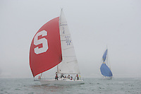 STANFORD, CA - NOVEMBER 18:  Oliver Ruhiluoma, Ben Pedrick, Nick Dugdale, Hayley Tobin, Cole Hatton, and Hannah Burroughs during the Big Sail on November 18, 2008 at the St. Francis Yacht Club in San Francisco, California.