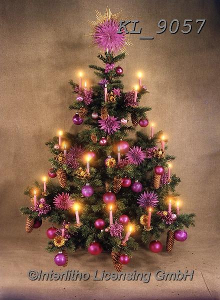 Interlitho-Helga, CHRISTMAS SYMBOLS, WEIHNACHTEN SYMBOLE, NAVIDAD SÍMBOLOS, photos+++++,tree violet,KL9057,#xx#