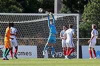 England goalkeeper, Ryan Schofield, tips the ball over the goal to foil another Ivory Coast attack during England Under-18 vs Ivory Coast Under-20, Toulon Tournament Final Football at Stade de Lattre-de-Tassigny on 10th June 2017
