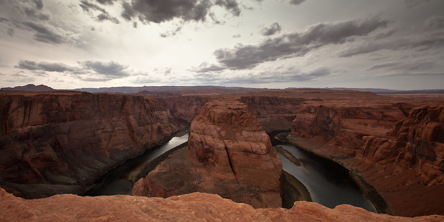 Horseshoe Bend - Breathtaking Overlook over a Colorado River meander near Page, AZ