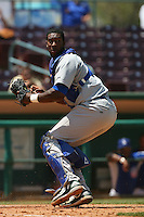 May 14 2009: Yusuf Carter of the Stockton Ports during game against the Inland Empire 66'ers at Arrowhead Credit Union Park in San Bernardino,CA.  Photo by Larry Goren/Four Seam Images