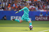 LYON, FRANCE - JULY 07: Sari Van Veenendaal #1 during the 2019 FIFA Women's World Cup France final match between the Netherlands and the United States at Stade de Lyon on July 07, 2019 in Lyon, France.