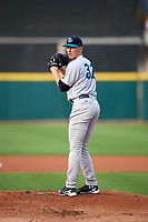 Tampa Tarpons starting pitcher Trevor Stephan (32) during a game against the Lakeland Flying Tigers on April 5, 2018 at Publix Field at Joker Marchant Stadium in Lakeland, Florida.  Tampa defeated Lakeland 4-2.  (Mike Janes/Four Seam Images)