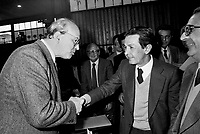 - Bettino Craxi, segretario del PSI (Partito Socialista Italiano) con Enrico Berlinguer, segretario del PCI (Partito Comunista Italiano), 1981....- Bettino Craxi, secretary of the PSI (Italian Socialist Party) with Enrico Berlinguer, secretary of the PCI (Italian Communist Party), 1981