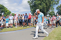 Satoshi Kodaira (JPN) chips up tight on 7 during Saturday's round 3 of the PGA Championship at the Quail Hollow Club in Charlotte, North Carolina. 8/12/2017.<br /> Picture: Golffile | Ken Murray<br /> <br /> <br /> All photo usage must carry mandatory copyright credit (&copy; Golffile | Ken Murray)