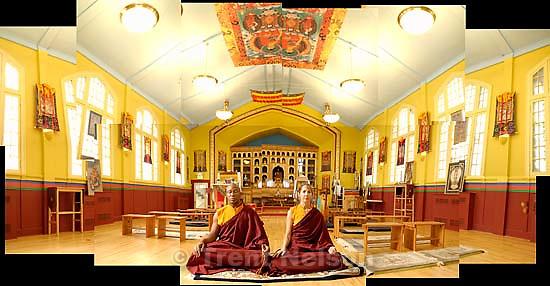 Lama Thupten (left) and Jean Gardner at Salt Lake City's Urgyen Samten Ling Gonpa Tibetan Buddhist Temple.<br />