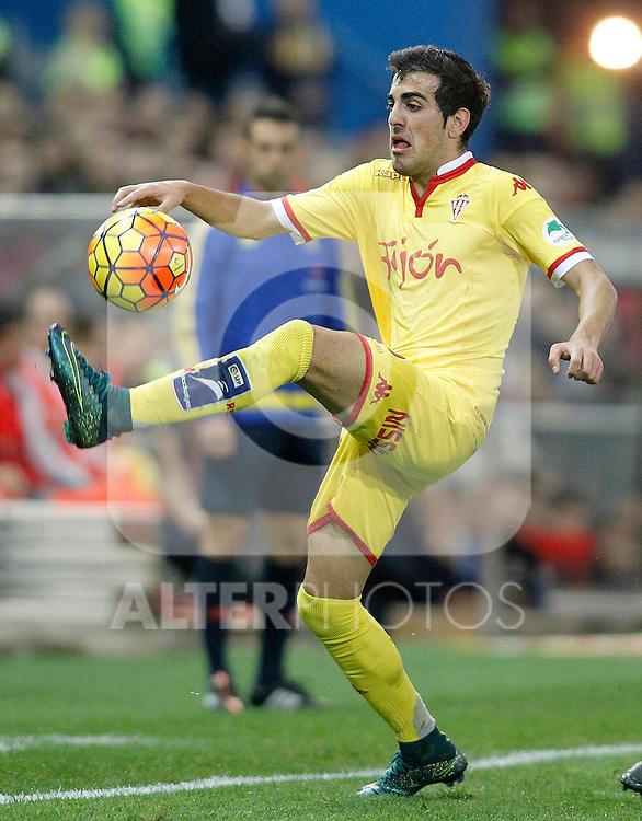 Sporting de Gijon's Carlos Castro during La Liga match. November 8,2015. (ALTERPHOTOS/Acero)
