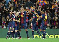 Joie FC Barcelone .Football Calcio 2012/2013.La Liga Spagna.Foto Panoramic / Insidefoto .ITALY ONLY
