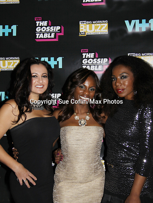 Diva Gals Daily Samantha von Sperling, Delaina Dixon host The Gossip Table and Maureen Tokeson-Martin at the VH1 Premiere Party for The Gossip Table and Big Morning Buzz Live on September 25, 2013 at the Ling Ling Lounge at Hakkasan, New York City, New York. (Photo by Sue Coflin/Max Photos)