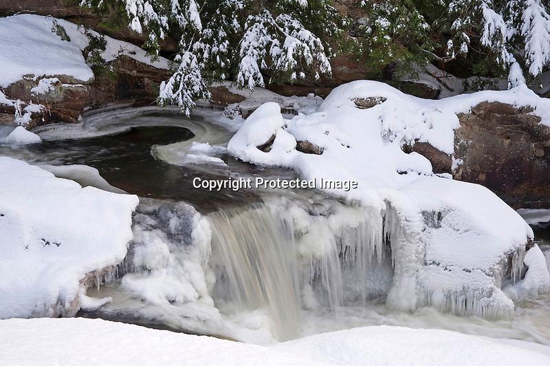 Snowy Winter Cascade