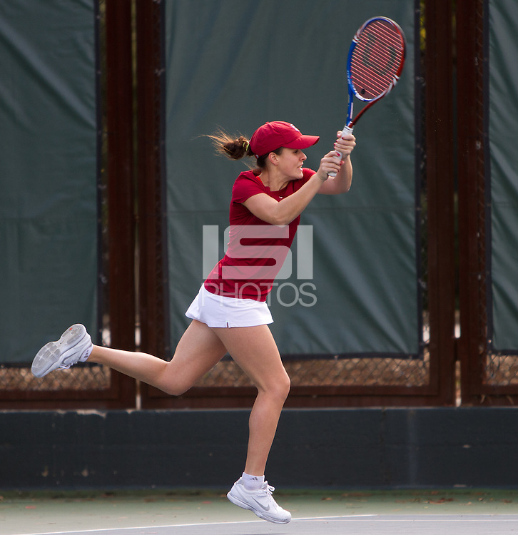 STANFORD, CA - February 25, 2011:  Nicole Gibbs during Stanford's 7-0 victory over Oregon at Stanford, California on February 25, 2011.