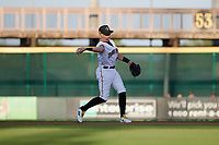 Bradenton Marauders second baseman Robbie Glendinning (6) throws to first base during a Florida State League game against the Jupiter Hammerheads on April 19, 2019 at LECOM Park in Bradenton, Florida.  Bradenton defeated Jupiter 7-1.  (Mike Janes/Four Seam Images)