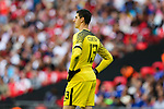 Thibaut Courtois (GK) of Chelsea during the The FA Community Shield match at Wembley Stadium, London. Picture date 6th August 2017. Picture credit should read: Charlie Forgham-Bailey/Sportimage