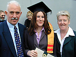 Rita Murray from Hillview who recieved a Certificate in Food Science with her parents Thomas and Dolores..Picture Paul Mohan Newsfile.NO BYLINE PLEASE