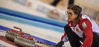 Glasgow. SCOTLAND.  German, &quot;Skip&quot; Daniela JENTSCH, &quot;Round Robin&quot; Games. Le Gruy&egrave;re European Curling Championships. 2016 Venue, Braehead  Scotland<br /> Monday  21/11/2016<br /> <br /> [Mandatory Credit; Peter Spurrier/Intersport-images]