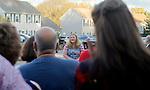 TORRINTON, CT - 08 OCTOBER 2017 -101417JW15.jpg -- Family friend Amanda Schutz talks about her memories of Las Vegas shooting victim Kurt von Tillow Saturday evening during a memorial. Jonathan Wilcox Republican-American