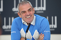 Ryder Cup Captain Paul McGinley during the Media Interview before the 2014 Alfred Dunhill Links Championship, The Old Course, St Andrews, Fife, Scotland. Picture:  David Lloyd / www.golffile.ie