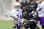 Orange, CA 05/16/15 - Nathan Smith (Grand Canyon #20) and Matt Milne (Colorado #12) in action during the 2015 MCLA Division I Championship game between Colorado and Grand Canyon, at Chapman University in Orange, California.