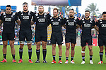 Ben May (L), Jacob Skeen, Joe Moody, Marty McKenzie, Matt Proctor, Jamison Gibson-Park. Maori All Blacks vs. Fiji. Suva. MAB's won 27-26. July 11, 2015. Photo: Marc Weakley