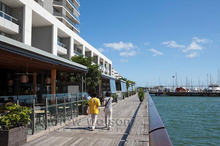 Waterfront boardwalk at Harbour Lights.  Cairns, Queensland, Australia