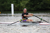 Race: 85  MasD.1x  Semi-Final<br /> 51  Grosvenor Rowing Club, Chester (Jones)<br /> 55  York City Rowing Club (Woodford)<br /> <br /> Henley Masters Regatta 2018 - Friday<br /> <br /> To purchase this photo, or to see pricing information for Prints and Downloads, click the blue 'Add to Cart' button at the top-right of the page.