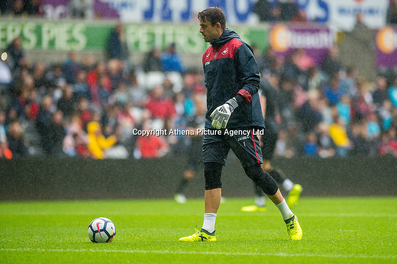Lukasz Fabianski in actionin action during the Swansea City Training Session at The Liberty Stadium, Swansea, Wales, UK. 02 August 2017
