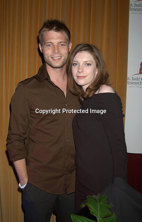 ....Justin Torkildson and wife Bonnie                ..at the Ninth Annual Daytime Television Salutes St. Jude ..Children's Research Hospital benefit in New York City on ..October 10, 2003 at the Marriott Marquis Hotel. ..Photo by Robin Platzer, Twin Images