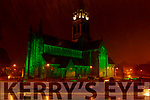 The St Marys Cathedral  turned green for St Patricks Day