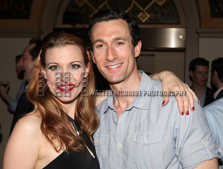 Rachel York & Aaron Lazar.attending the reception for the final performance of the New York City Center ENCORES! Production of 'Gentlemen Prefers Blondes' at City Center in New York City on 5/13/2012.