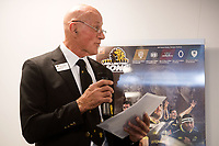 Brendon Gard'ner reads out the squad during the Wellington Lions season launch at 89 Courtenay Place in Wellington, New Zealand on Friday, 11 August 2017. Photo: Marty Melville / lintottphoto.co.nz