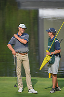 Patton Kizzire (USA) shares a laugh with his caddie before putting on 17 during round 2 of the World Golf Championships, Mexico, Club De Golf Chapultepec, Mexico City, Mexico. 3/2/2018.<br /> Picture: Golffile | Ken Murray<br /> <br /> <br /> All photo usage must carry mandatory copyright credit (&copy; Golffile | Ken Murray)