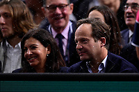 3rd November 2019, AccorHotels Arena, Bercy, Paris, France; Rolex Paris masters Tennis tournament, finals day;  Anne Hidalgo and mari Jean Marc Germain