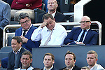 Newcastle owner Mike Ashley looks troubled during the Barclays Premier League match at St James' Park. Photo credit should read: Philip Oldham/Sportimage