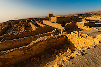 Masada, a rock plateau fortress on the edge of the Judean Desert, overlooking the Dead Sea, Masada National Park (UNESCO World Heritage Site), Israel