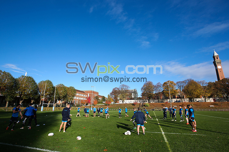 Picture by Alex Whitehead/SWpix.com - 04/11/16 - Rugby League - 2016 Ladbrokes Four Nations - England RL Training - University of Birmingham, Birmingham, England - A General View (GV).