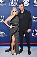LAS VEGAS, CA - APRIL 07: Carrie Underwood (L) and Mike Fisher attend the 54th Academy Of Country Music Awards at MGM Grand Hotel &amp; Casino on April 07, 2019 in Las Vegas, Nevada.<br /> CAP/ROT/TM<br /> &copy;TM/ROT/Capital Pictures