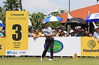 Fabrizio Zanotti (PAR) in action on the 3rd tee during Round 1 of the Maybank Championship at the Saujana Golf and Country Club in Kuala Lumpur on Thursday 1st February 2018.<br /> Picture:  Thos Caffrey / www.golffile.ie<br /> <br /> All photo usage must carry mandatory copyright credit (&copy; Golffile | Thos Caffrey)
