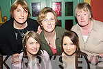 Quiz: Taking part.in a Table Quiz in.aid of Crumlin.Childrens Hospital.and the Irish.Guide Dogs for the.Blind, at Kirbys.Brogue Inn,.Tralee, on Thursday.evening were,.front l-r: Michelle.OHara, Ardfert,.and Karen Conway,.Shanakill..Back l-r: Marian.McCarthy, Trish.Horan and Anne.Eager, Ballymacelligott.