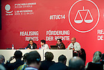 Berlin-Germany - May 20, 2014 -- International Trade Union Confederation - 3rd ITUC World Congress 'Building Workers' Power' -- Photo: © HorstWagner.eu / ITUC