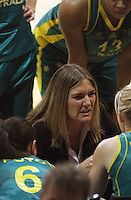 Opals coach Carrie Graf during the International women's basketball match between NZ Tall Ferns and Australian Opals at Te Rauparaha Stadium, Porirua, Wellington, New Zealand on Monday 31 August 2009. Photo: Dave Lintott / lintottphoto.co.nz